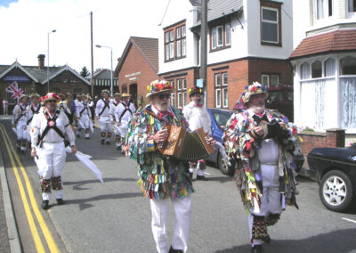 Leicester Morris Men in the Parade  Lobster Potty Festival, Sherringham